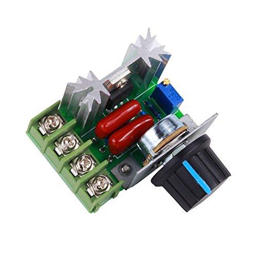 yosoo PWM AC Motor Speed Kontrolle Controller 2000W Spannungsregler 50–220V 25A LED Dimmern (Ac-motor)
