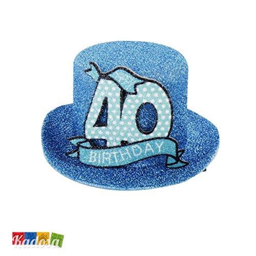 Hut mit Clip Geburtstagshut mini Happy Birthday Geburtstagszahlen Zahl Geburtstag 18,30,40,50,60,70, (40)