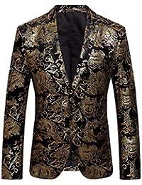 QUICKLYLY Trajes Hombre Chaquetas Charm Encanto Casual Un Botón Apto Fit  Suit Traje Blazer Abrigo Tops Fiesta Lentejuelas Chaqueta… 292c1d4a6fd