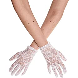 Blue Banana Alternative Fashion - Guantes - para mujer blanco Bianco Talla única