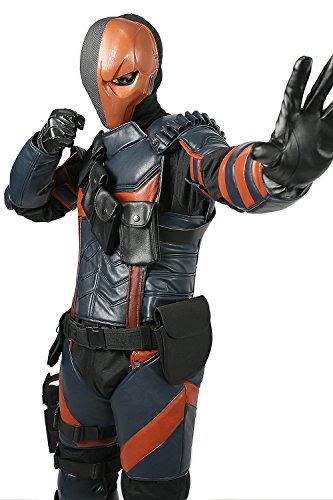 Armour Cosplay Kostüm PU Fighter Outfit mit Helm für Herren Halloween Verrückte Kleid Merchandise (Deathstroke Kostüm)
