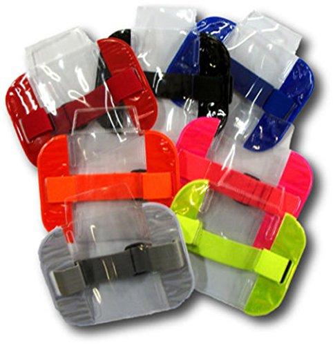 Orange Holder Card Business (Road Master Unisex Sia Sicherheit ID Badge Holder Armband, wasserdicht, mit transparentem Kunststoff Gr. onesize, Orange)