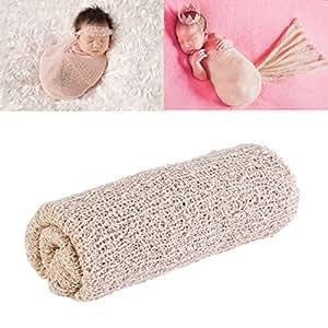 Tinksky Photographie de nouveau-né bébé mignon images Prop photographie nouveau-né les accessoires Wrap (Beige)