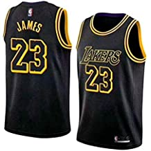 MTBD NBA Lebron James, NO.23 Lakers Retro, Camiseta de Jugador de básquetbol