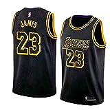 MTBD NBA Lebron James, NO.23 Lakers Retro, Camiseta de Jugador de...