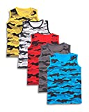 #10: T2F Boys' Army Printed T-Shirt (Pack of 5, Multicolor)