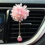 Hunpta Diffuseur de parfum à clip pour voiture en forme de fleur, senteur camélia