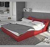 Letti e Mobili - Letto di disegno Granada in colore rosso 180x200cm
