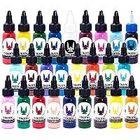 Inchiostro per tatuaggi - KIT 26 COLORS 1oz (30ml) - KIT 26 COLORI - VIKING INK USA - I migliori colori e neri per gli inchiostri per tatuaggi sul mercato - VEGANO