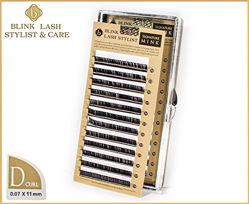 Blink Lash Stylist !!! Hochwertige Wimpern für Wimpernverlängerung 11 mm - D curl - 0,07 mm mit echten Aufkleber !!!