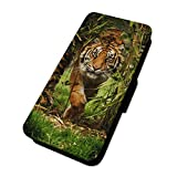 Atemberaubende Dschungel Tiger – Flip Case Wallet Cover Card Holder