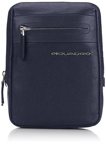 Piquadro CA3084W64/BLU2 Laszlo Borsello, Blu, 21 cm