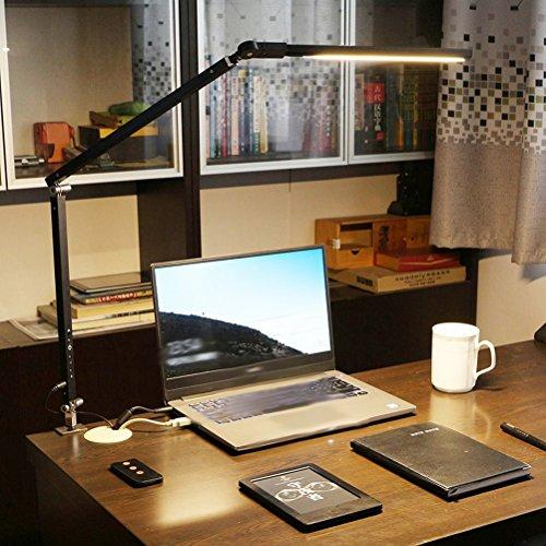 Led-schreibtischlampe Lernen Auge Schutz Schreibtisch Schlafzimmer Bedside Kreative Einfache Falten Arbeit Lange Arm Plugging Befestigung Tischlampe,Schwarz