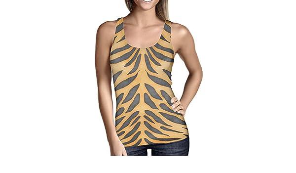 401f4e38c3ba6 Tiger Print Ladies Tank Top Gym Workout Sleeveless Sizes XS-3XL   Amazon.co.uk  Clothing