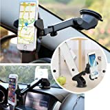 #10: Iceberg Makers.in Cell Phone Mount Holder for Car Eazy OneTouch V2.0 Universal Mount for Windshield and Dashboard Fits iPhone 7 6s 6 Plus 5s 5c Samsung Galaxy S7 Edge S6 S5 LG G5 G4 One Plus 3 2 (Holds devices from 2.3 to 3.5 inches wide)