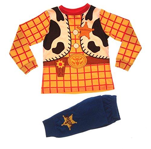 """Pijama disfraz de Woody de """"Toy Story"""" de Disney, para niños de 1,5, 2,2, 3,3, 4,4 y 5 años Woody 3-4 años"""