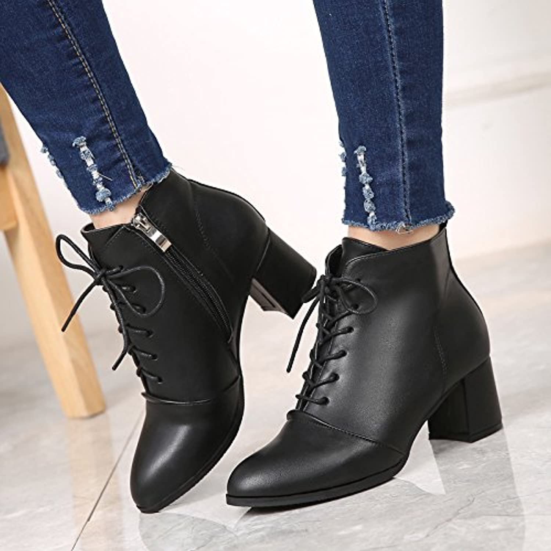kphy épaisses bottes en daim avec martin, bottes à talons bottes haut et un épais bottes talons souliers b078bq3zlv parent avec martin 912b78
