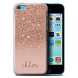 Stuff4 Personnalisé Effet Paillettes Coutume Coque pour Apple iPhone 5C / Or Rose...