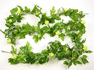 Artificial green hop garland greenery foliage 176cm from for Artificial hops decoration