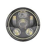 5–3/414,6cm rund Daymaker 45W Halo LED Scheinwerfer Angel Eyes Lampe für Harley Davidson Motorrad