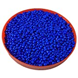 #2: eshoppee 8/0 glass seed beads pot 100 gm for jewellery making and home decoration (Blue)