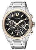 Citizen Super Titanium - Reloj de Cuarzo para Hombre, con Correa de Titanio, Color Plateado
