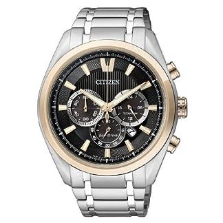 Citizen Super Titanium – Reloj de Cuarzo para Hombre, con Correa de Titanio, Color Plateado