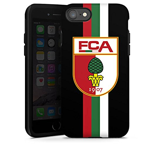 Apple iPhone X Silikon Hülle Case Schutzhülle FC Augsburg Fanartikel Fußball Tough Case glänzend