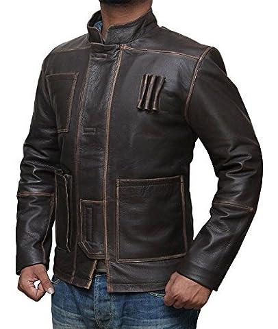 Han Solo Jacket Kostüm Harrison Ford Star Wars Force Erwacht Braune Jacke ►CYBER DEAL◄ (3XL, Brown)