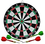 #5: Belco Double-Sided Flocking Dart Board (17 Inches) 17 inch Dart Board