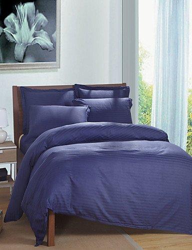 Sjtz biancheria da letto jt,lenzuola,4 pezzi copertura forniture alberghiere duvet set tessili per la casa (3pcs singoli), twin-sky blue, twin-sky blue