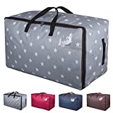DOKEHOM DKA1011GY 100L Large Storage Bag, Fabric Clothes Bag, Thick Ultra Size Under Bed Storage, Moisture proof (Grey)