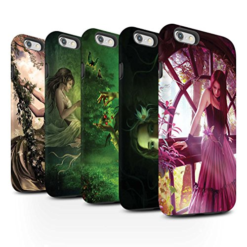 Officiel Elena Dudina Coque / Matte Robuste Antichoc Etui pour Apple iPhone 6S+/Plus / Masque d'Hiver Design / Un avec la Nature Collection Pack 15pcs