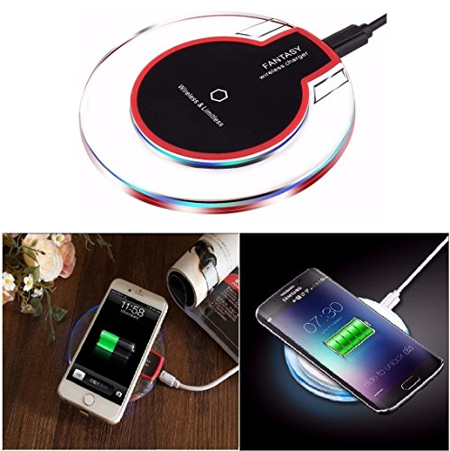 Aironx™ Wireless Charging Pad for iPhone 8/8/X Samsung Galaxy Note 8/S9/S9+/S8 Plus/S8/S7/S7 Edge/LG/V30+ (Free USB Light))