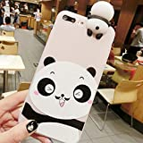 Schütze dein iPhone, Für iPhone 8 Plus & 7 Plus Bart Pandas Muster 3D Schöne Papa Panda Dropproof Schutzhülle Zurück Fall Für Iphone Handy. ( Großauswahl : Ip7p3524c )