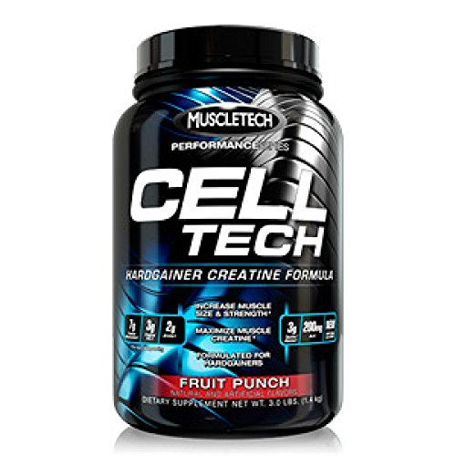 MuscleTech Cell-Tech Performance Series, Fruit Punch, 3.09 lb., Creatine HCl, Creatine Monohydrate and...
