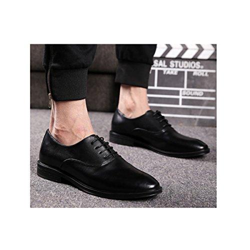 LYZGF Scarpe Da Uomo Con Allacciatura A Punta Per La Moda Casual Da Uomo Black