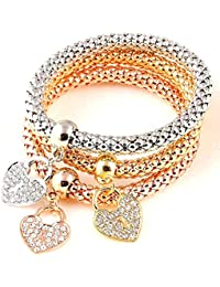 Sukkhi Cubic Zirconia Charm Bracelet for Women (Multi-Colour)(BC81045)