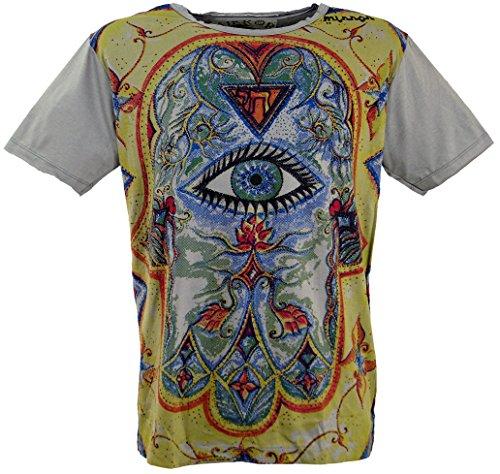 GURU-SHOP, Camiseta Espejo, Tercer Ojo/Gris, Algodón, Tamaño:XXL, Ca