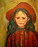Stampa Artistica/Poster: Edvard Munch Mädchen mit rotem Hut - Stampa di Alta qualità, Immagini, Poster artistici, 40x50 cm