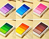 KMALL Tampone di Inchiostro 6 colori Tamponi Inkpad Timbri Sfumato,Tampone inchiostro per timbri timbro cuscinetto inchiostro per fai da te e uso su carta,legno,tessuti,Scrapbooking DIY
