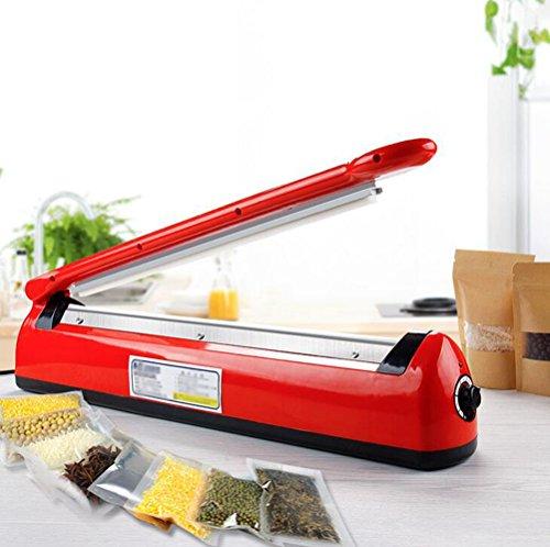 Bvc Impuls Schweißgerät - 3 mm SF-400 Impuls Sealer Folienschweißgerät Für Plastiktüten/Kunststoffbeutel, 54 * 8,5 cm,Red