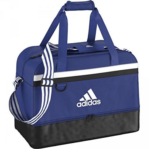 adidas Unisex Fußballtasche Tiro15, blau/weiß, 54cm x 28 cm x 27 cm , 32 litersm S30261