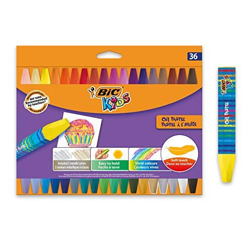 BIC Kids Pastelli A Olio Colori Assortiti Confezione Da 36