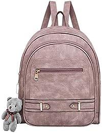 94f1d8240d848 JUND Fashion Frosted Leder Rucksack Mädchen Trendy Lässig Campus Schultasche  Einfach Einfarbig Travel Backpack