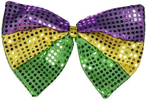 Mardi Gras Glitz 'N Gleam Bow Tie, 81/2-Inch by 11-1/2-Inch ()