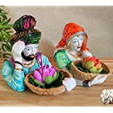 TiedRibbons Punjabi Couple Handicraft Showpiece Statue Figurines Collectibles Items For Drawing Room Living Room Office Bed Room Garden Home Decor And House Warming Gifts