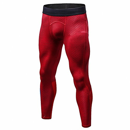 Bmeigo Uomo Workout Leggings 3D Running Exercise Tight Bodybuilding Sport Pantaloni
