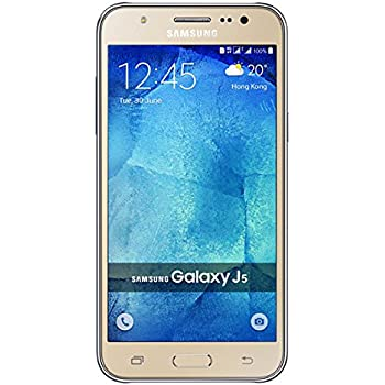 Samsung Galaxy J5 2016 J510FN/DS -Smartphone (Dual Sim, 16 GB, 4 G, 1.2 GHz Quad Core Processor, 13 MP AF + 5 MP Front Flash) dorado