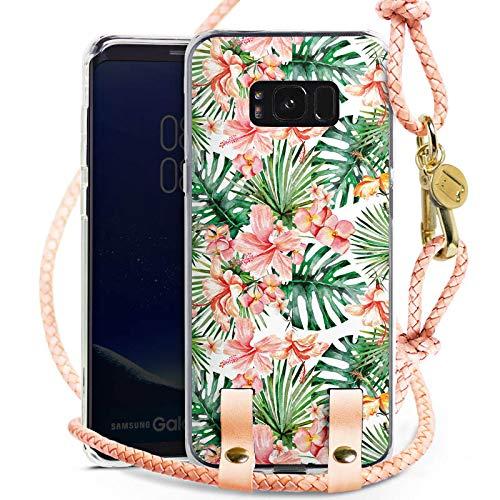 DeinDesign Carry Case kompatibel mit Samsung Galaxy S8 Plus Handykette Handyhülle zum Umhängen Muster Orchidee Lilie Orchidee-band